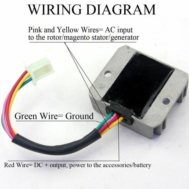 Dirt Bike Voltage Regulator Rectifier Wiring Diagrams ...  Wire Chinese Voltage Regulator Wiring Diagram on