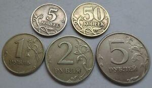 Russland-5-50-Kopeken-1-2-und-5-Rubel-1998-034-034-K2