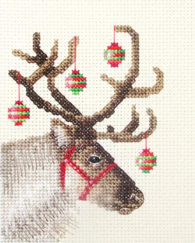 all materials Xmas *Fido Studio Christmas REINDEER Deer Full cross stitch kit