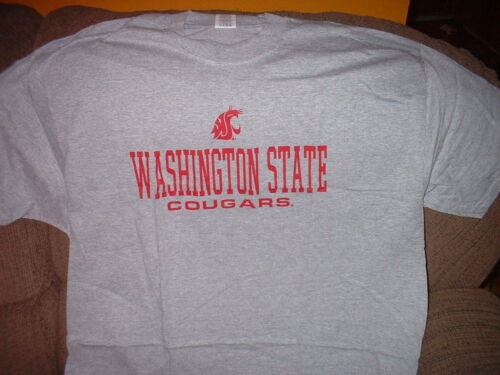 WASHINGTON STATE COUGARS T-SHIRT SIZE MEDIUM  GREY