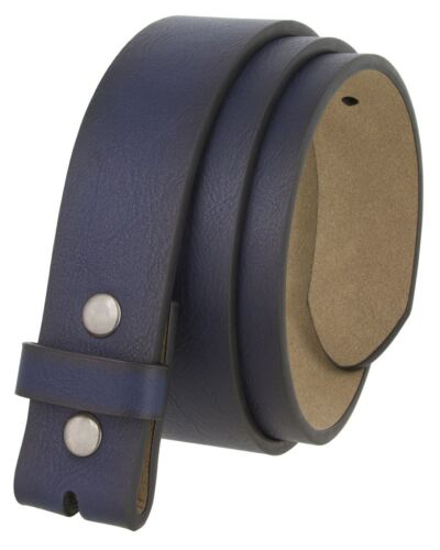 "BS382011 Casual Leather Belt Strap with Metal Snaps 1 1//2/"" wide"