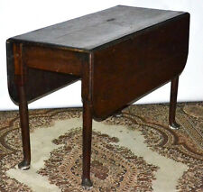 18th C Antique oak and elm drop leaf table - FREE Delivery [PL2972]
