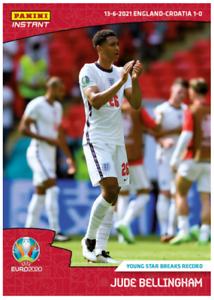 Jude Bellingham England Dortmund 1st Euro 2020 UEFA Panini Instant Card #5