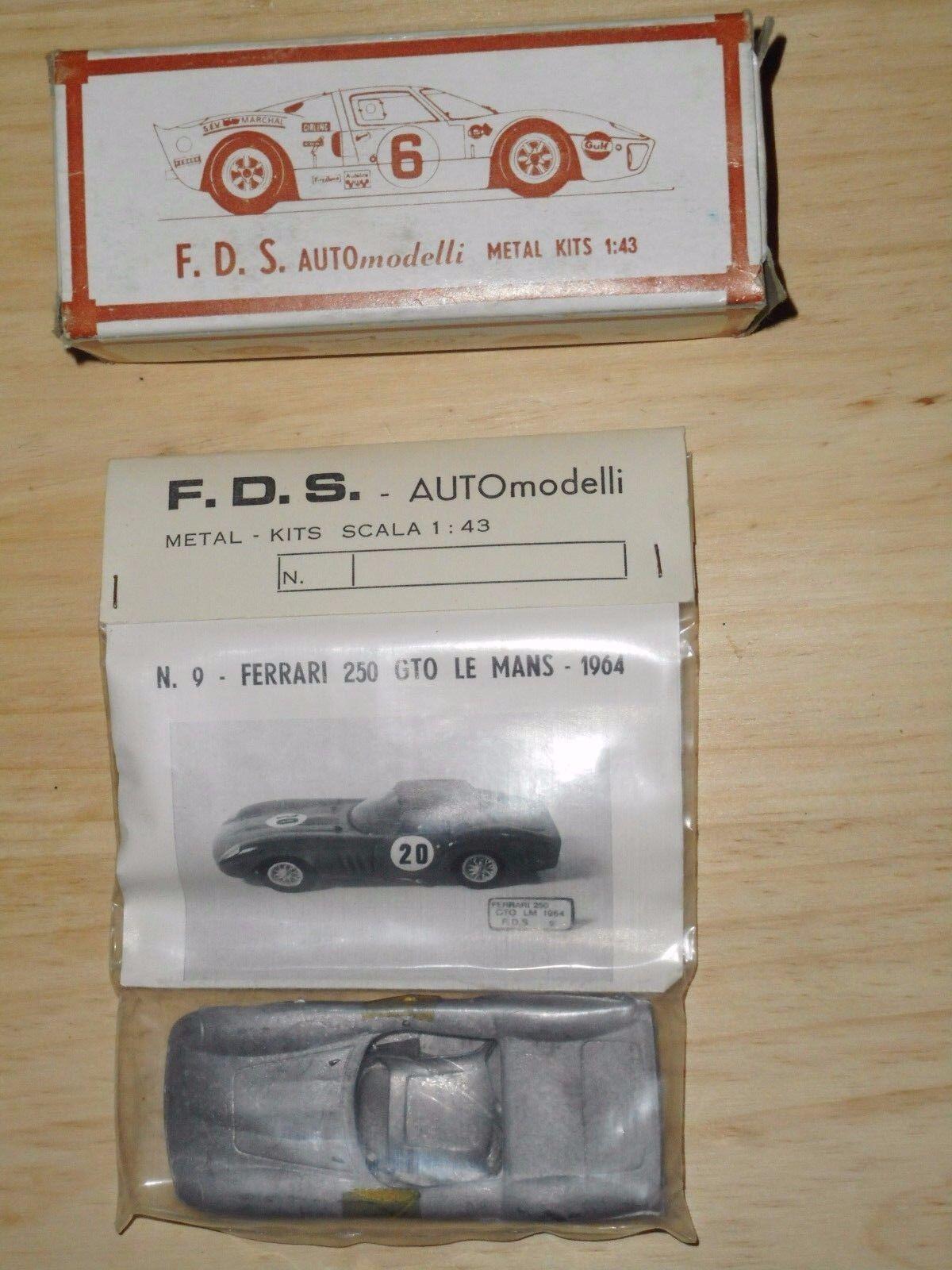 F.D.S.   KIT vintage 1 43 FERRARI 250 GTO LE MANS 1964 métal