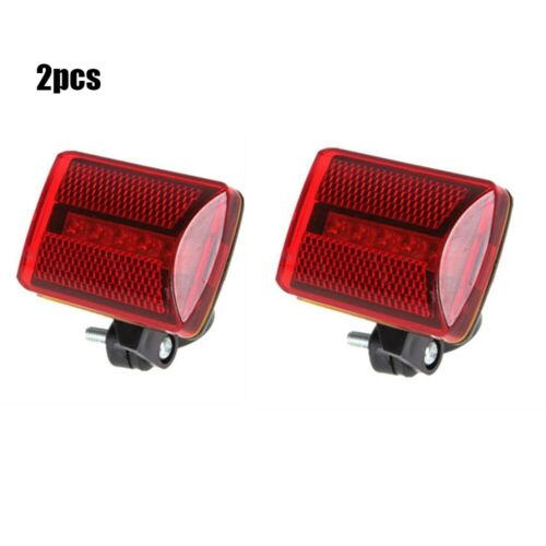 Waterproof Bike 5 LED Rear Tail Light Red Back Safety Warning Flashing Lights hh