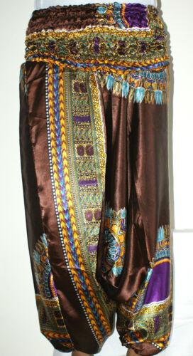 Harem Trousers African Alibaba Boho Gypsy Indian Satin Summer Aladdin Dashiki