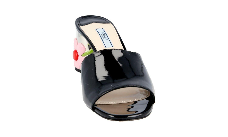AUTH LUXURY PRADA PRADA PRADA SANDALS SHOES 1XX310 BLACK PATENT US 10.5 EU 40,5 41 UK 7.5 fe6b78