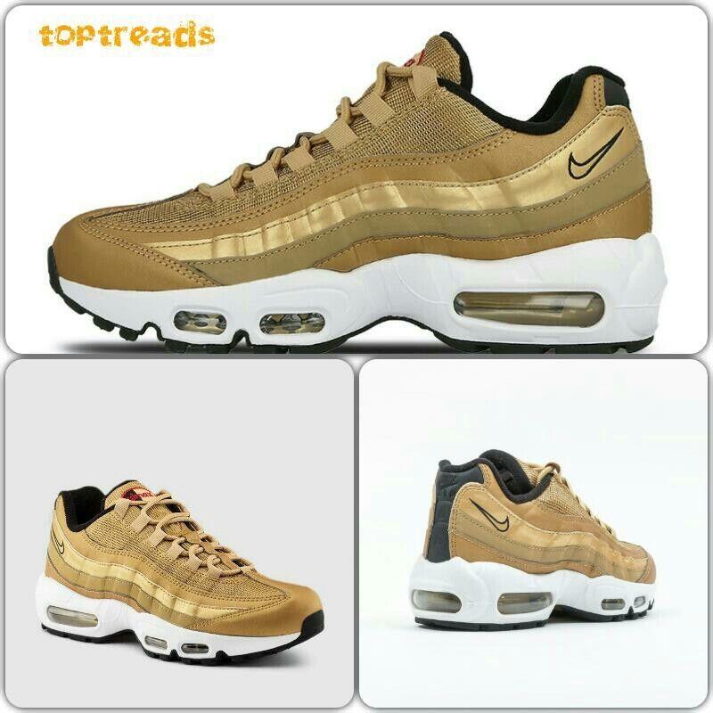 Nuevos zapatos para hombres y mujeres, descuento por tiempo limitado Nike Air Max 95 Qs Oro Bala Para Mujer Reino Unido 6 (814914 700)