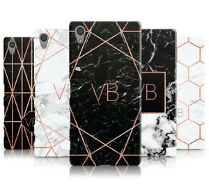 PERSONALISED-ROSEGOLD-MARBLE-INITIALS-MOBILE-PHONE-CASE-COVER-FOR-SONY-XPERIA-L1