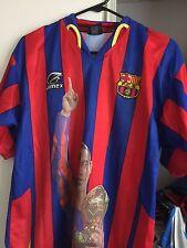 Jimex L Ronaldhino striped soccer football jersey short sleeve F.C.B.