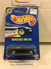#2 Mercedes 380 SEL #92 * Black * Blue Card Hot Wheels * h71