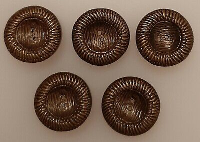 8 x 18mm Brown Marble Inverse Dome Round Plastic Buttons EL47h