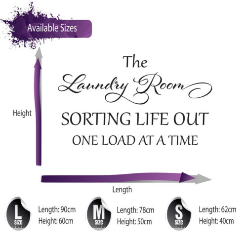 THE LAUNDRY ROOM WALL STICKER QUOTE BEDROOM LOUNGE WALL ART DECAL X248
