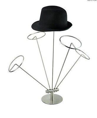 Stainless steel Metal Silver Hat Cap display stand Rack Holder General M10