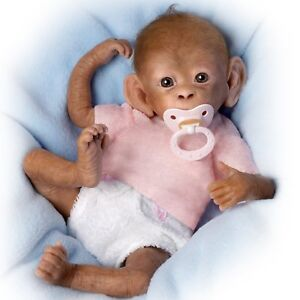 Coco-16-039-039-So-Truly-Real-Monkey-Doll-by-Ashton-Drake-NRFB