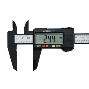150mm 6inch LCD Digital Electronic Carbon Fiber Vernier Caliper Gauge Micrometer