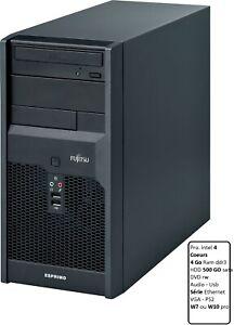 Fujitsu P2550 - 4 Coeurs 4 Go 500 Go Dvd Windows 7pro Reconditionné GARANTIE 1an