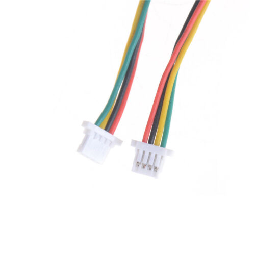 10 x Mini Micro SH 1.0mm 4-Pin JST Double Connector Plugs Wires Cables 100MM CA