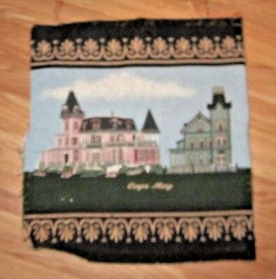 Cape May Cottages Tapestry Top Pillow Fabric Piece