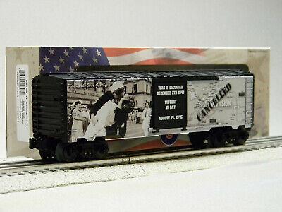 O Gauge Kiss the War Goodbye MUSA Boxcar Lionel Trains