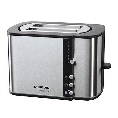 Grundig TA 5260 Toaster  Edelstahl  870 Watt  Brötchenaufsatz
