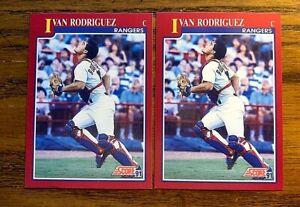 1991 Score #82  Ivan Rodriguez RC - Rangers (2)