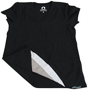 Belly Armor Maternity Belly Tee T-Shirt in Black Protective Pregnancy Sheilding