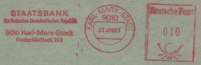 Vornehm Ddr Freistempelbrief Karl-marx-stadt Diverse Philatelie Seltene Stempelform Monat In Buchstaben !!
