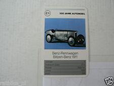52-MERCEDES 100 JAHRE C1 BENZ-RENNWAGEN BLITZEN-BENZ 1911 KWARTET KAART,CARD