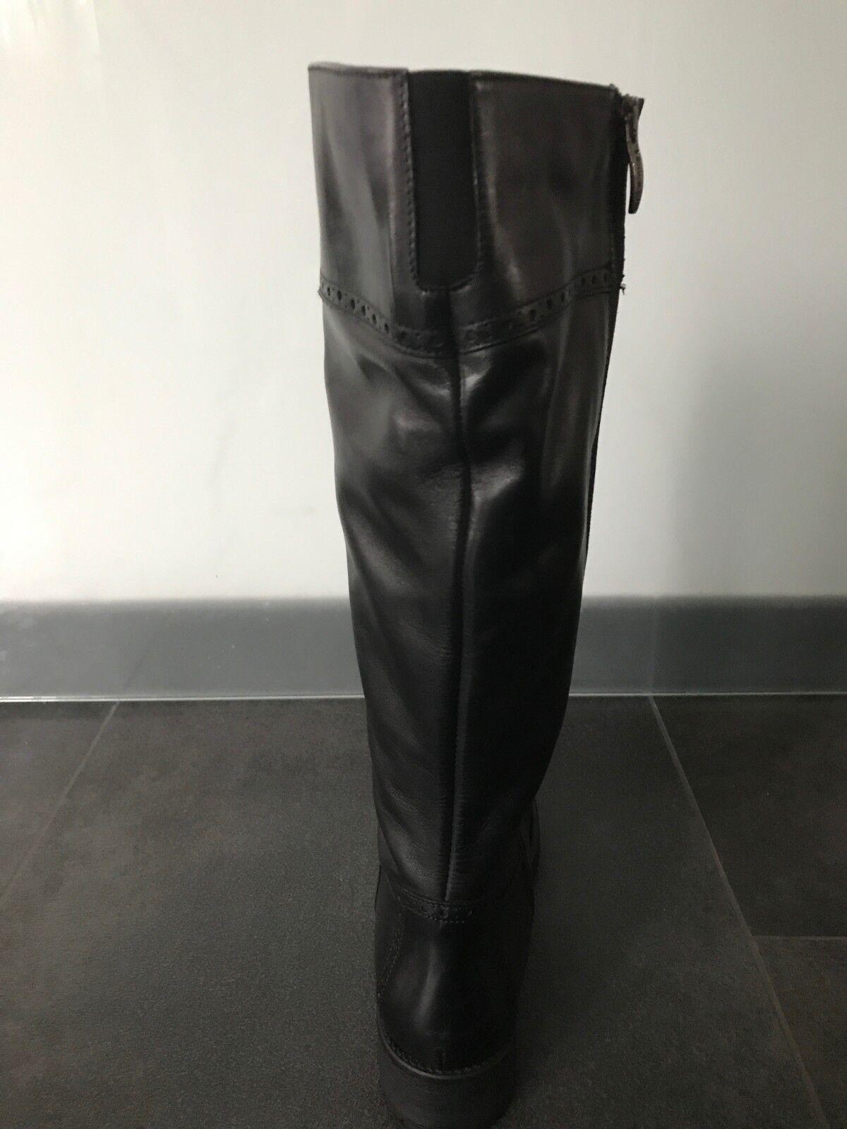 Tamaris botas de de de cuero negro de Budapest talla 41 cf572f