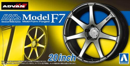 20 Zoll AVS Model F7 Felgen /& Reifen Set 1:24 Model Kit Bausatz Aoshima 055168