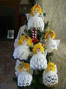 Gabriel-039-s-Gang-Angel-Christmas-Tree-Trims-Decorations-Knitting-Pattern