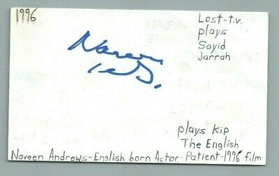 Movies Naveen Andrews Actor The English Patient Movie Autographed Signed Index Card Hot Sale 50-70% OFF