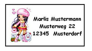 40-Adressaufkleber-Dollz-Puppen-Etiketten-Etikett-Schule-Aufkleber-Adresse-5693