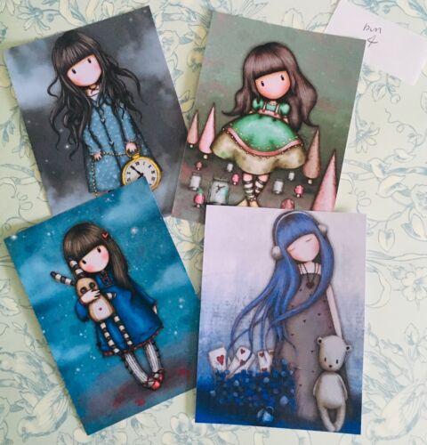 Craft clearout mix card toppers paper Santoro's Gorjuss X4 HighGloss bun4