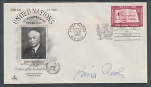 Bing Crosby, American Actor, Singer, signed 3c United Nations FDC