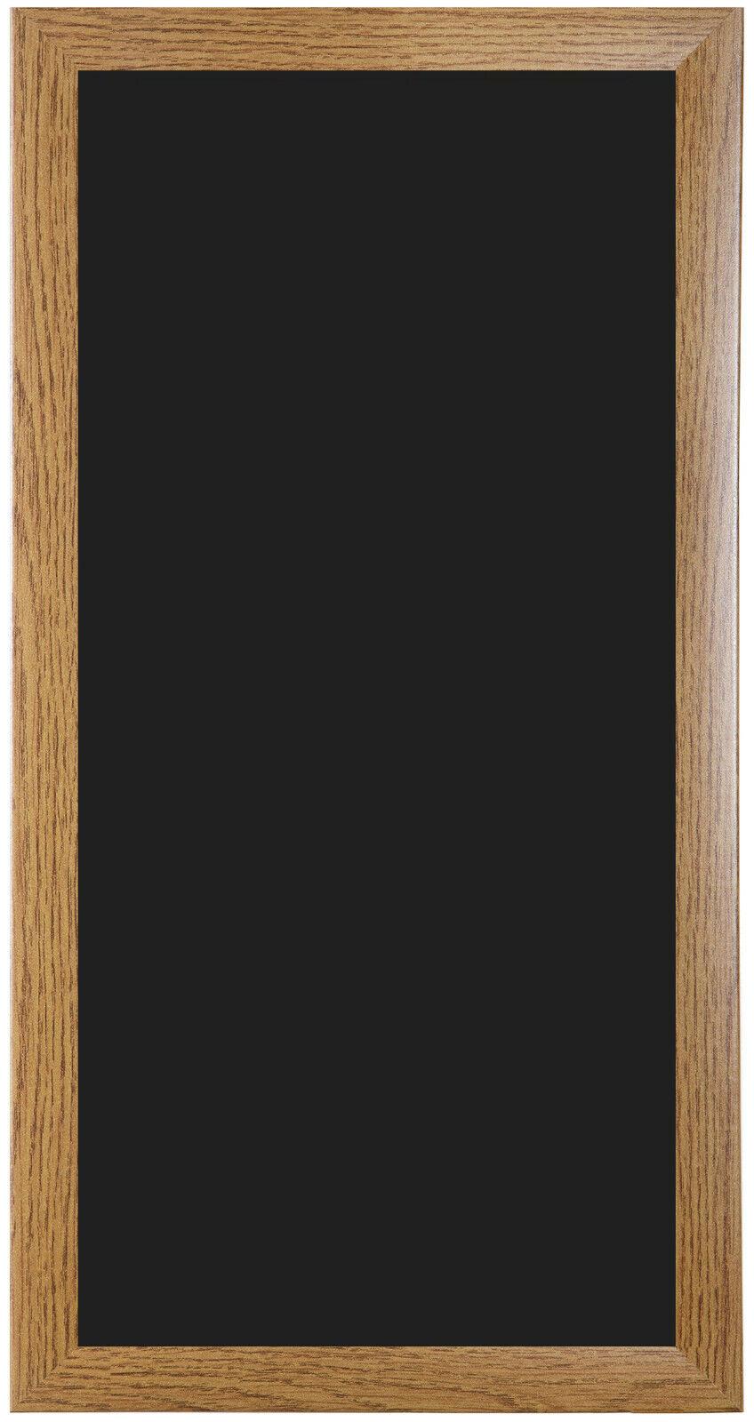 Kreidetafel nach Maß - Eiche Rustikal Holzrahmen - Tafel Schreibtafel in Schwarz
