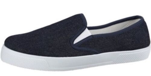 Be You Slip On Canvas Pumps Dark denim size 7 skater style Plimsoles Shoes Flat