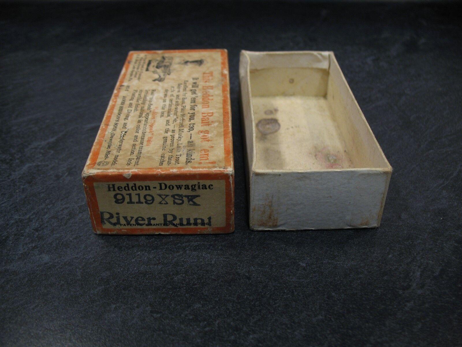 HEDDON 9119XSK BRUSH BOX (only) RIVER RUNT SINKER goldFISH SHORE Fishing Lure