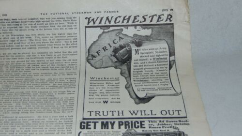 1909 WINCHESTER AND FAIRBANKS,MORSE AND OTHER ADVERTISING