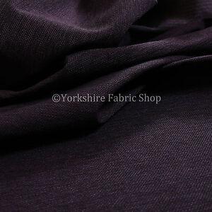 10-Metre-Of-Plain-Weave-Textured-Chenille-Upholstery-Sofa-Interior-Fabric-Purple