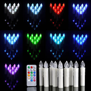 RGB 30x LED Weihnachtskerzen Lichterkette Kabellose Kerzen Deko Fernbedienung