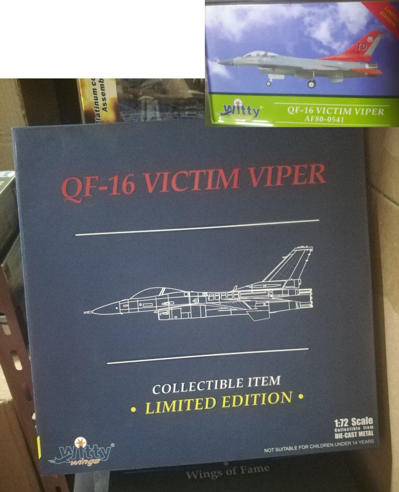 Witty 1 72 WTW-72-010-032 nos F-16 víctima Viper AF80-0541