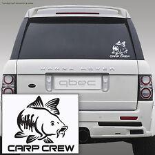 CARP CREW hunter pike fishing angler rod spinning car sticker 17cm x 14cm