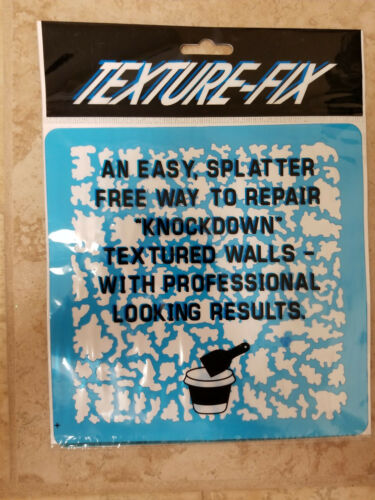 Texture Fix Drywall Repair Tool Template for Knockdown Wall Texture Patch /& Mud