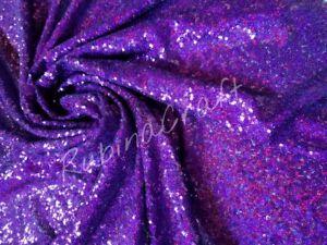 Purple /'glittery/' Sequin Fabric