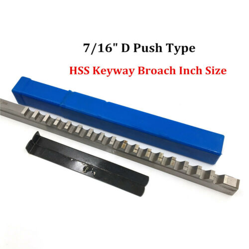 """7//16/"""" Inch Size Keyway Broach D Push Type HSS Cutting Tool for CNC Metalworking"""