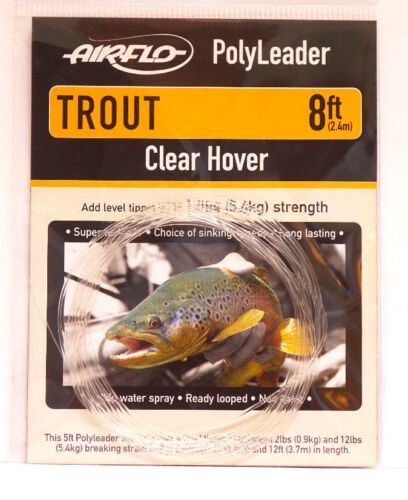 CLEAR HOVER AIRFLO Polyleader 8ft TROUT 2,40Mtr