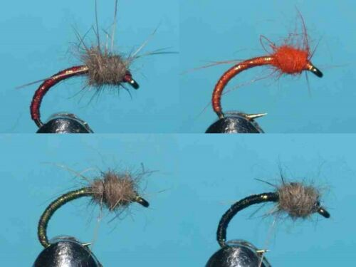 HAND TIED FLIES TROUT FISHING FLY 007 20 Hares Ear Buzzer