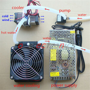 Details about DIY Thermoelectric Peltier Refrigeration TEC1-12706  Cooler+water cooling System